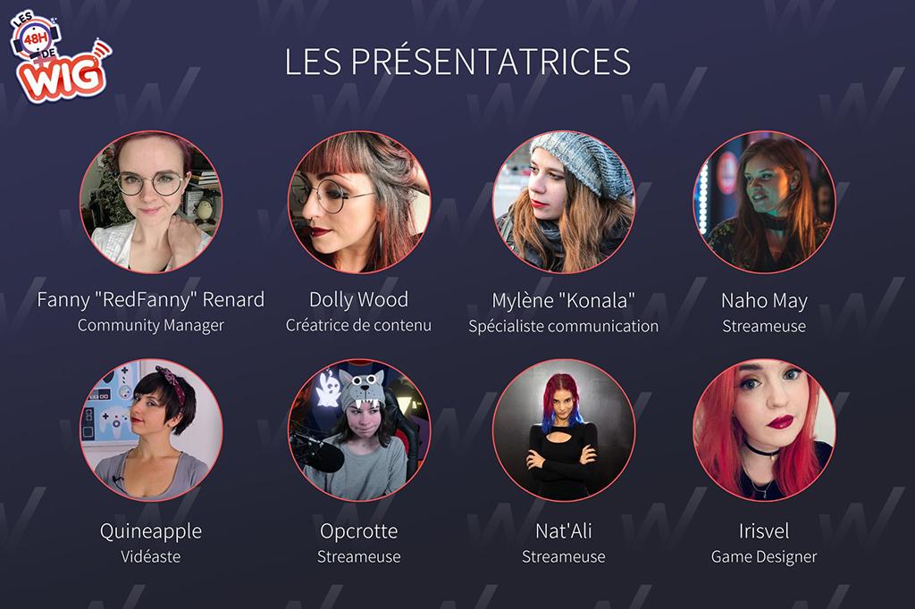 les 48h de WIG 2020 : Les animatrices